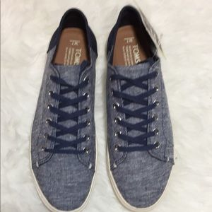 NWOB Toms Lenox Sneaker Navy Slub Chambray women7
